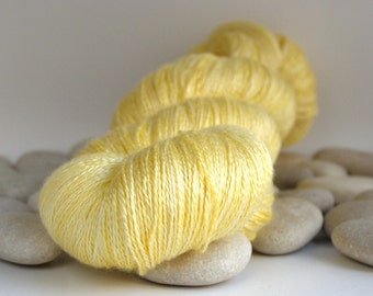 Silk Lace Yarn, Almost Solid, 980yds - Spring Sun