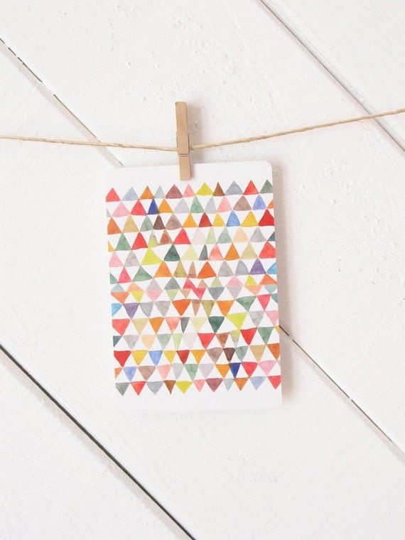 Triangle Tapestry Postcard