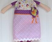 Dress-up Doll Riley Blake, Purple