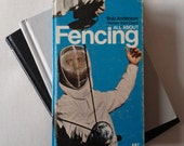 Journal or Sketchbook made from hardcover book: All About Fencing