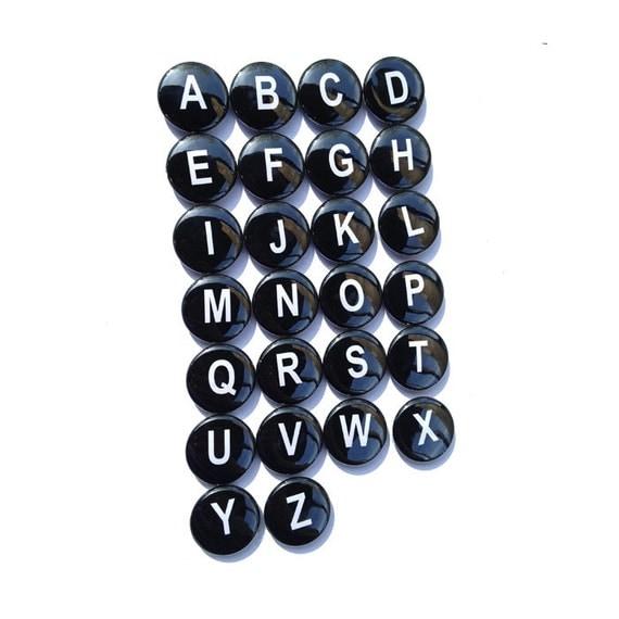 Black Letter Magnets Black And White Alphabet Magnets