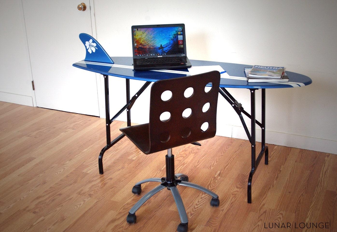 surfboard desk folding legs mid century furniture design