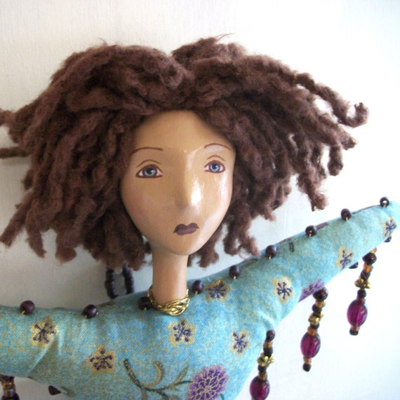 Spring - A Cloth and Paperclay Ooak Art Doll