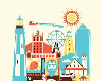 VIRGINIA BEACH print - 11 x 14 in. (color: Bright)