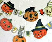 Halloween Pumpkin Jack O'Lantern Banner Garland Bunting Ornaments Decoration Original Folk Art  DIY