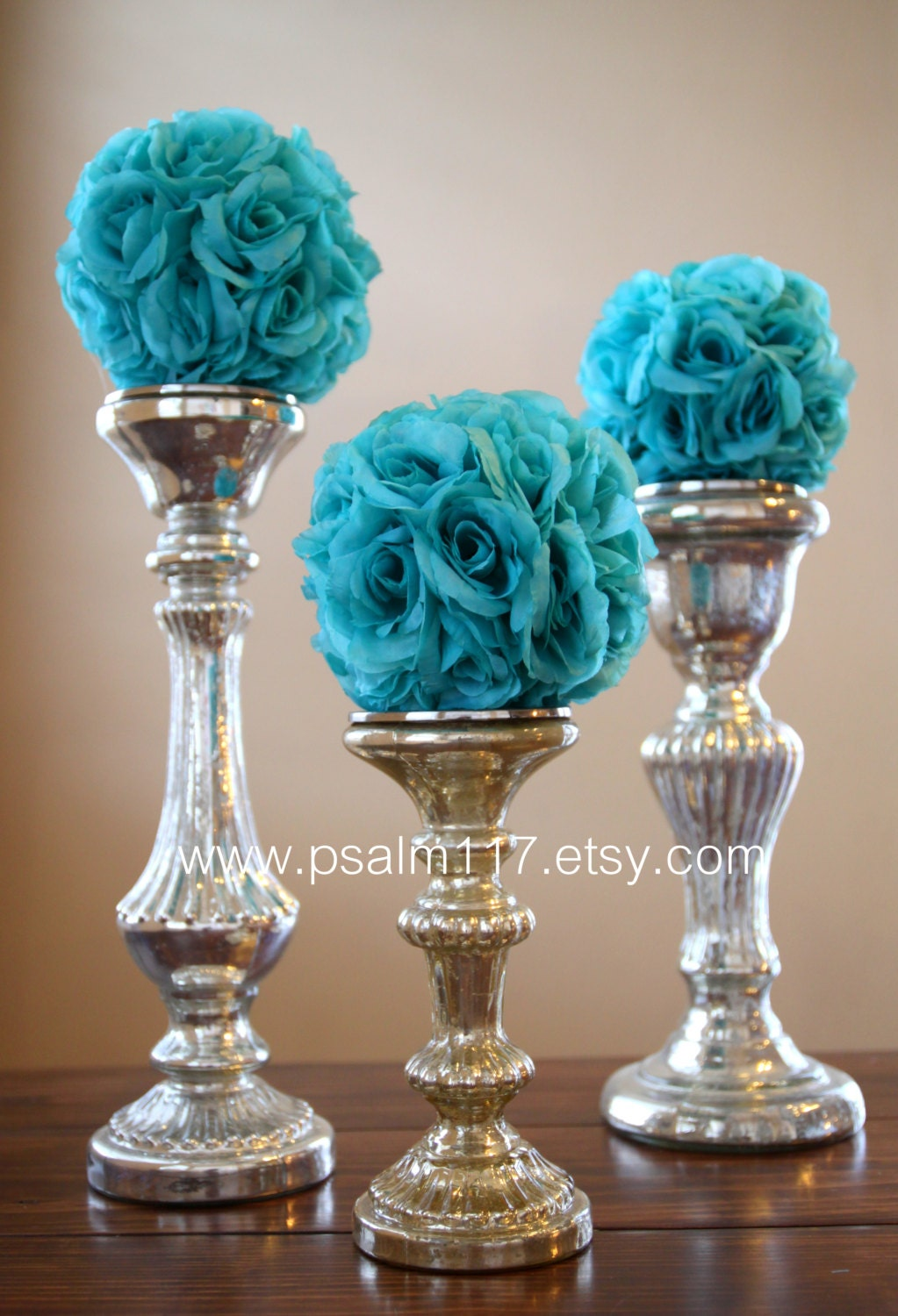 Decorating Vases Ideas With Silver Brown And Blue Flowers
