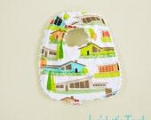 Mid Century Modern Bib Infant Chenille Great Gift Spring Home