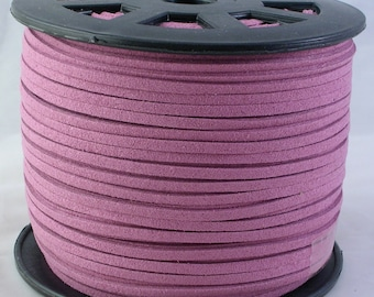 3mm Faux Suede Leather Cord Dusty Pink 15 feet (C15) for Jewelry Necklace Bracelet Stringing Material Shipping from USA