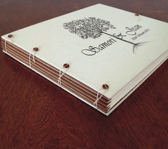 large personalized wedding album for guest book or by. Black Bedroom Furniture Sets. Home Design Ideas