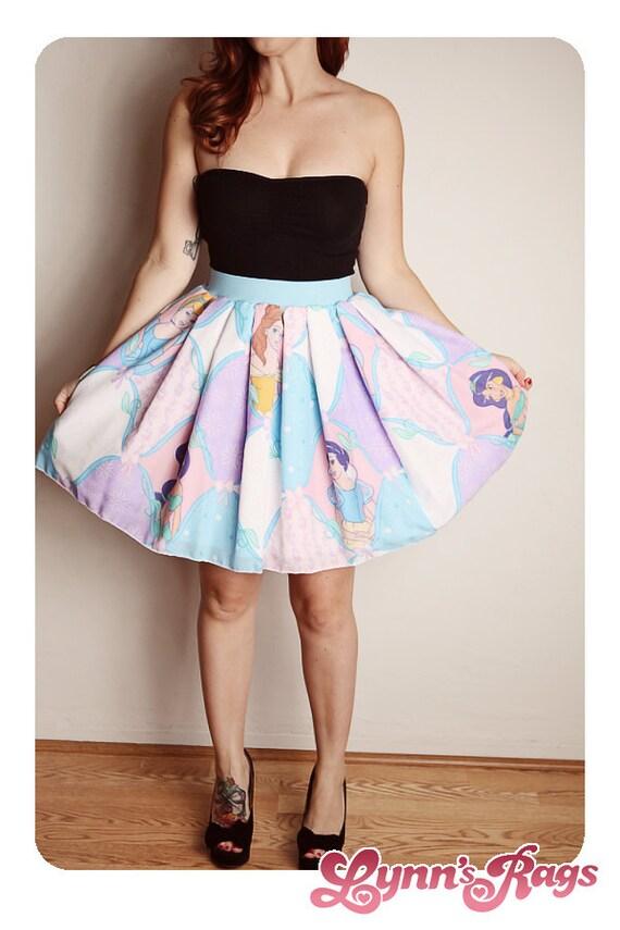 disney princess skirt handmade diy bow high waisted birthday