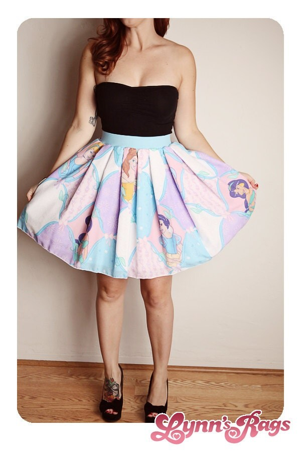 DISNEY Princess SKIRT Handmade Diy Bow High Waisted Birthday