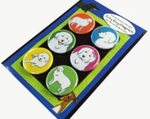 Great Pyrenees Silly Dog Magnet Set