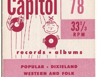 Vintage Capital Records Brochure - lots of awesome music related art and lists of albums