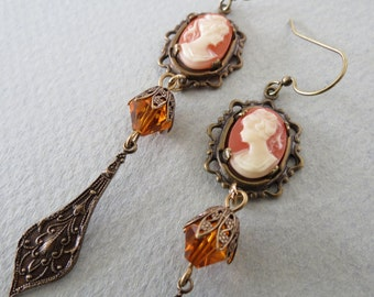 Cameo Dangle Earrings