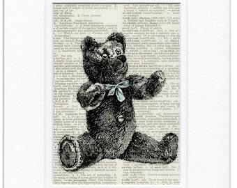 teddy bear dictionary page print