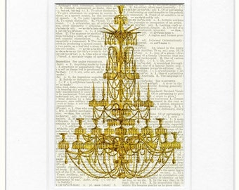 chandelier 2 dictionary page print