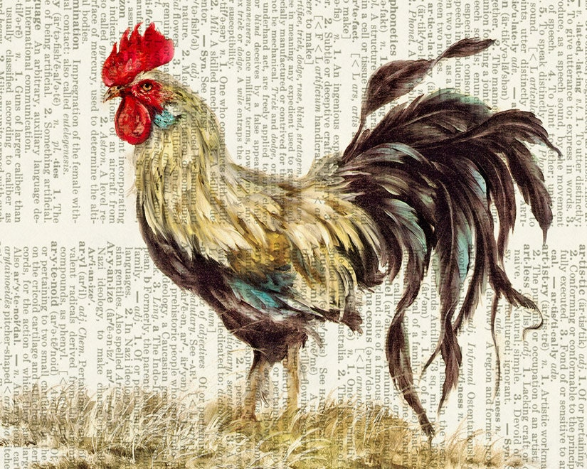 Persnickety image inside rooster printable