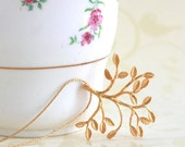 Gold Branch Necklace, Delicate Branch Necklace, Nature, Gold Jewelry, Branch Pendant, Choose Your Length, Girlfriend Gift, Gift For Woman