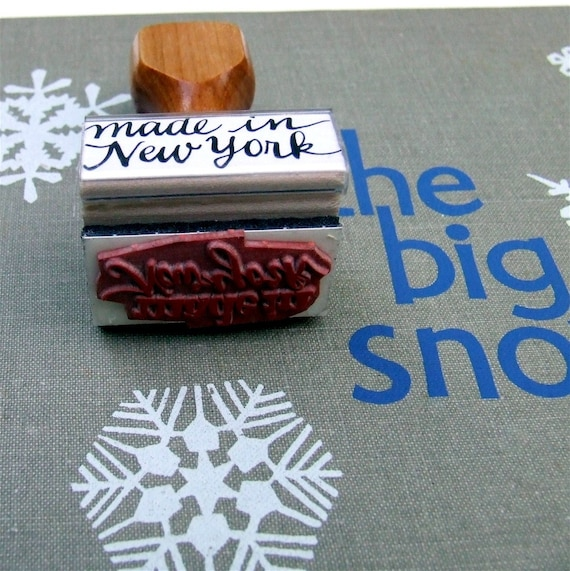 Made in new york stamp ny rubber modern