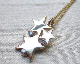 Diamonds and 14kt Gold-The Starlight Pendant