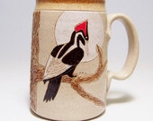 Ivory Billed Woodpecker  Pottery Mega Mug Limited Series 78 microwavable 24 ounce
