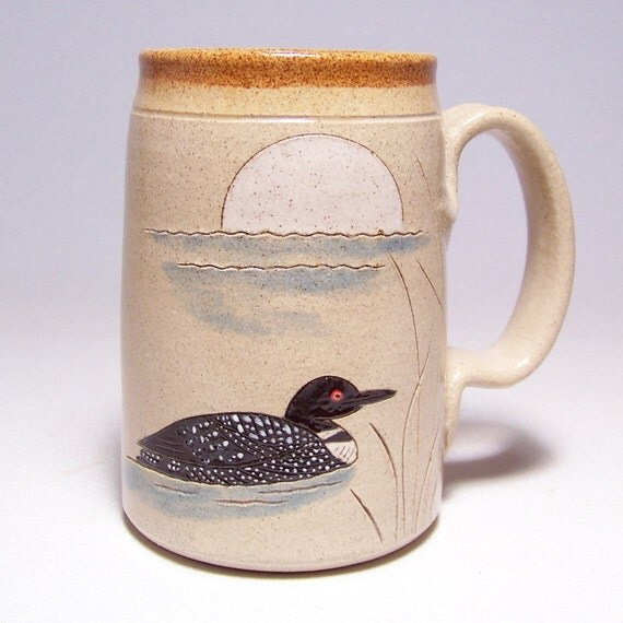 Loon and Moon Pottery  Mega Coffee Mug Limited Series 189 (microwave safe) 24oz