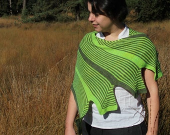 Instant download PDF knitting pattern shawl: Peace of Mind