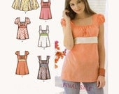 Womens Summer top boho sewing pattern Simplicity 3750 Bust 38 to 46