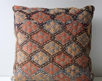 antique wool  kilim accent pillow