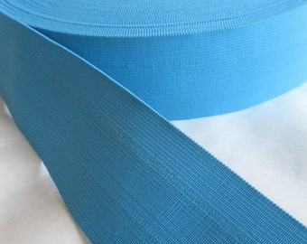Carolina blue elastic, 2 1/2 inches extra wide