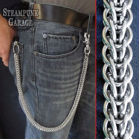 Wallet Chain - Steel Full Persian (Rope) Weave - Stainless