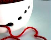 Pure White Ceramic Wheel Thrown Yarn Bowl - Made To Order