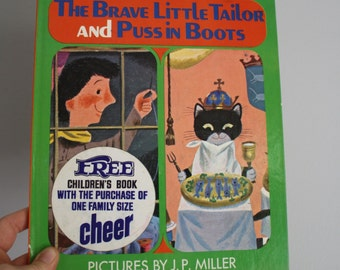 SALE The Brave Little Tailor and Puss in Boots Illustrated by J.P. Miller A Golden Book Favorite