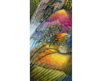 Sylvan - Fantasy Falcon and Hawk Print