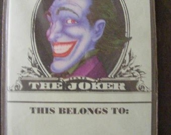 The Joker Nameplates Stickers Labels Bookplates NIP Batman Vintage
