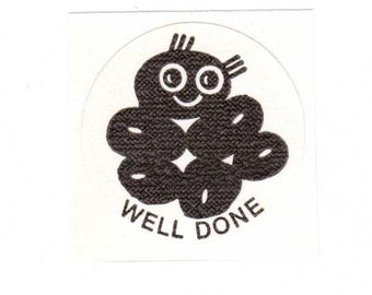 Vintage 1977 CTP Matte Licorice Jelly Beans Well Done Scratch and Sniff Sticker