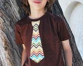FUN NECKTIE APPLIQUED fine jersey tshirt.............Great outfit idea for church, weddings, birthdays, school activities