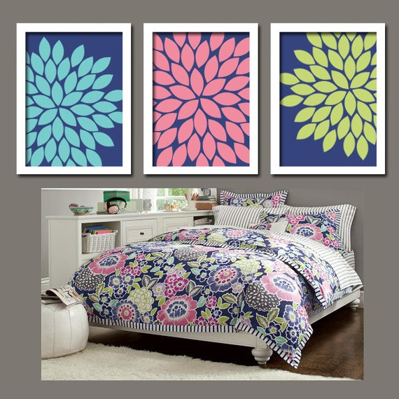 Items similar to bedroom comforter match wall art canvas for Matching bedroom and bathroom sets