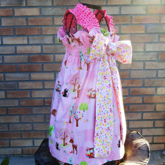 Girls Bow Dress 12m 18m 24m 2T 3T 4T 5 6