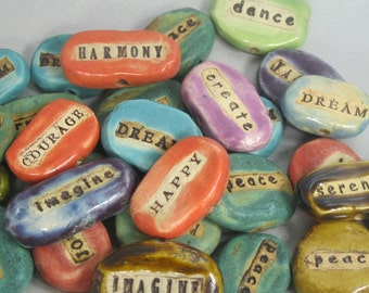 Word Bead: your word,  custom order for  YOU