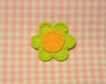 Set of 6pcs handmade felt flower--light green (FT815)
