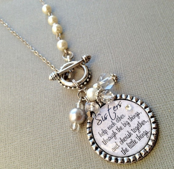 Wedding Gift To Sister : to SISTER gift- PERSONALIZED necklace- wedding quote, birthday gift ...