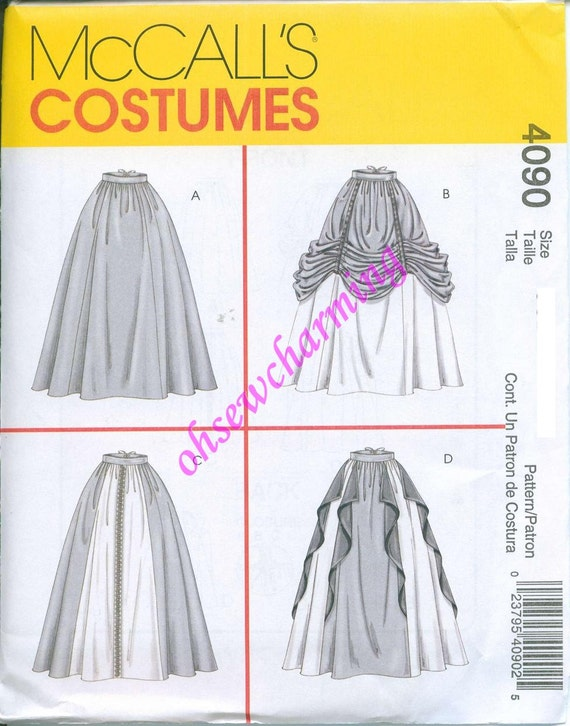 McCalls 4090 Medieval Renaissance Skirts Sewing Pattern Costume Sizes 14-16-18-20 Lots of Options