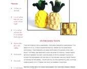 Play Food Intermediate Crochet Pattern PDF:Textured Pineapple Amigurumi using Worsted, Medium Weight Yarn - Designed by The Silver Hook
