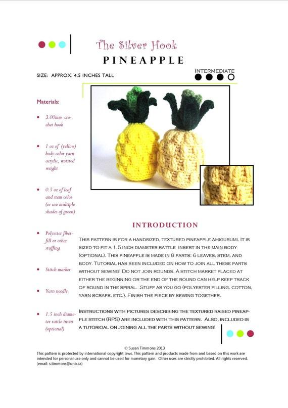 play food intermediate crochet pattern pdftextured pineapple