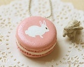 Rabbit Necklace - Pink Rabbit Macaron Necklace - Rabbit Gifts