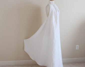 custom eco linen chic halter floor length dress