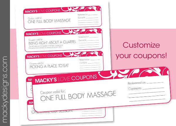custom coupons free template custom printable love coupons valentine 39 s day