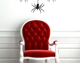 Spider vinyl wall decal stickers, Halloween Decor, Spider Decals, Along came a spider, Window Decals, Halloween Party decorations
