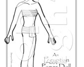Egyptian Princess Paper Doll to print, color and cut